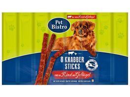 Pet Bistro Hundesnack Knabbersticks mit Rind und Gefluegel