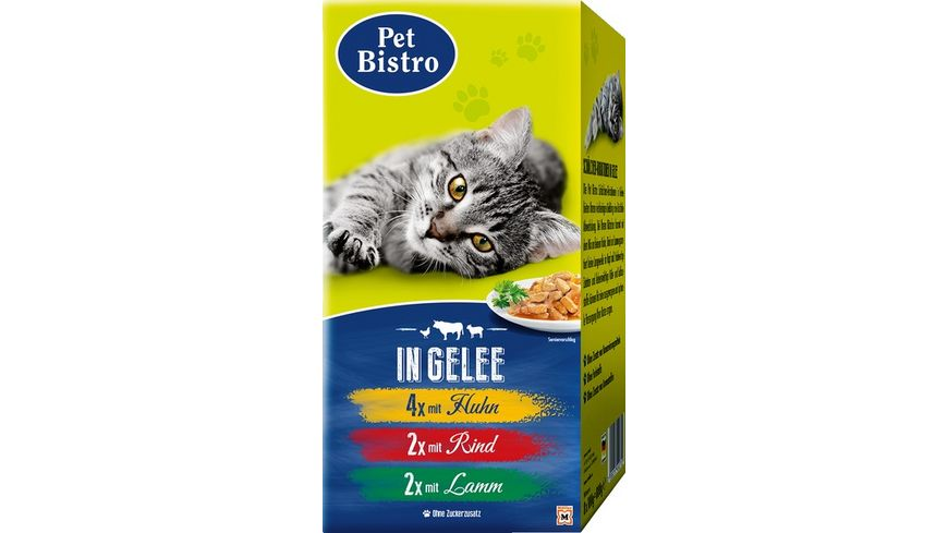 Pet Bistro Katze Multipack in Gelee 8x100g