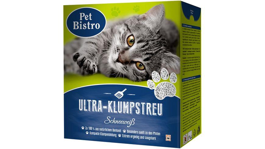 Pet Bistro Ultra Klumpstreu Schneeweiss fuer Katzen