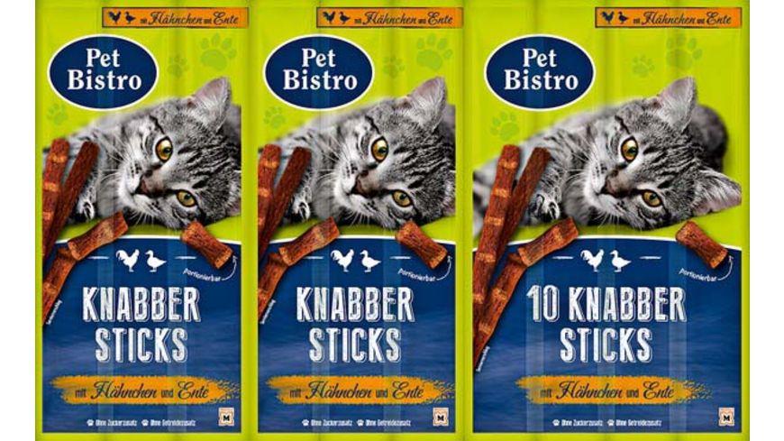Pet Bistro Katzensnack Knabbersticks mit Haehnchen und Ente