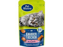 Pet Bistro Katzensnack Knabbertaschen Haut Fell mit Lachs