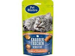 Pet Bistro Katzensnack Knabbertaschen Sensitiv mit Truthahn