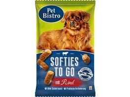 Pet Bistro Hundesnack Softies to go mit Rind
