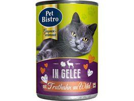 Pet Bistro Katzennassfutter in Gelee mit Truthahn und Wild