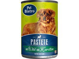 Pet Bistro Hundenassfutter Pastete mit Wild und Karotten