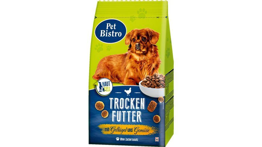 Pet Bistro Trockenfutter fuer Hunde mit Gefluegel und Gemuese