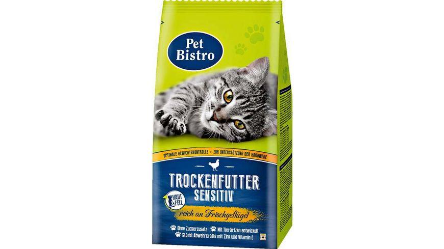Pet Bistro Katzentrockenfutter Sensitiv reich an Frischgefluegel