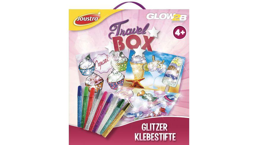 GLOW2B Joustra Travel Box Glitzer Klebestifte
