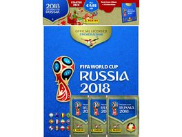 Panini FIFA World Cup Russia 2018 STARTER PACK HARD COVER ALBUM 3 Tueten