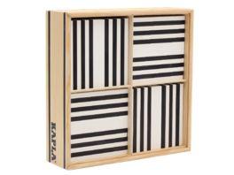 Kapla Holzbausteine schwarz weiss 100er Box
