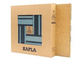 Kapla Holzbausteine hellblau dunkelblau 40er Box