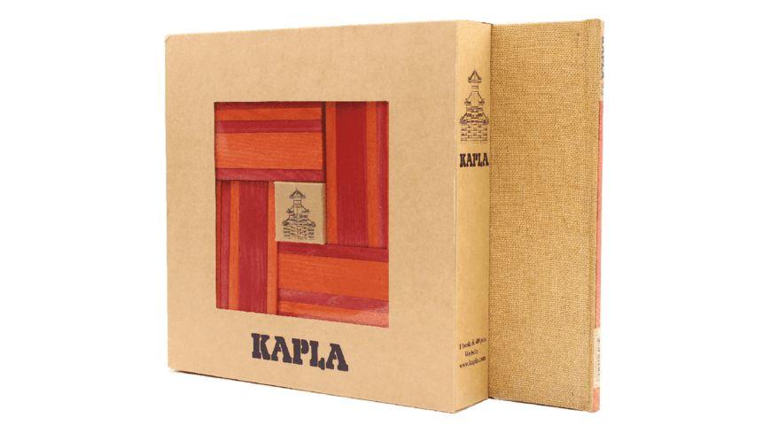 Kapla Holzbausteine rot orange 40er Box