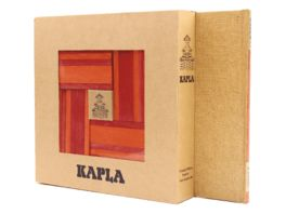 Kapla Holzbausteine rot orange 40er Box