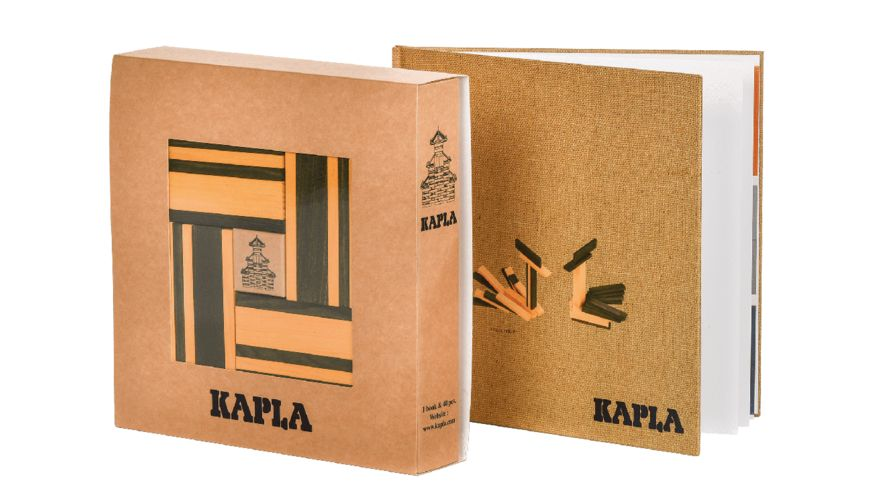 Kapla Holzbausteine gelb gruen 40er Box