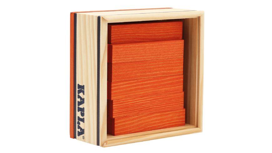 Kapla Holzbausteine Quadrate orange 40er Box