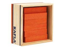 Kapla Holzbausteine Quadrate orange 40er Box