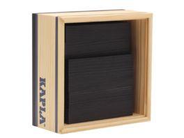 Kapla Holzbausteine Quadrate schwarz 40er Box