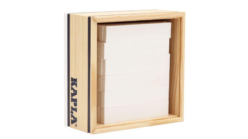 Kapla Holzbausteine Quadrate weiss 40er Box