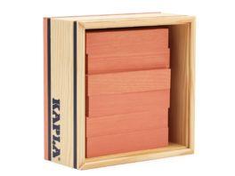 Kapla Holzbausteine Quadrate rosa 40er Box