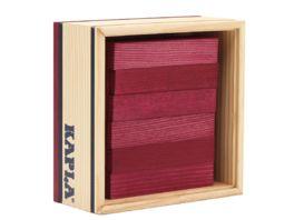 Kapla Holzbausteine Quadrate violett 40er Box