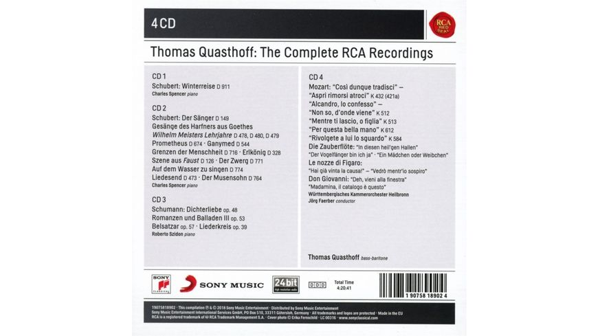 Thomas Quasthoff The Complete RCA Recordings