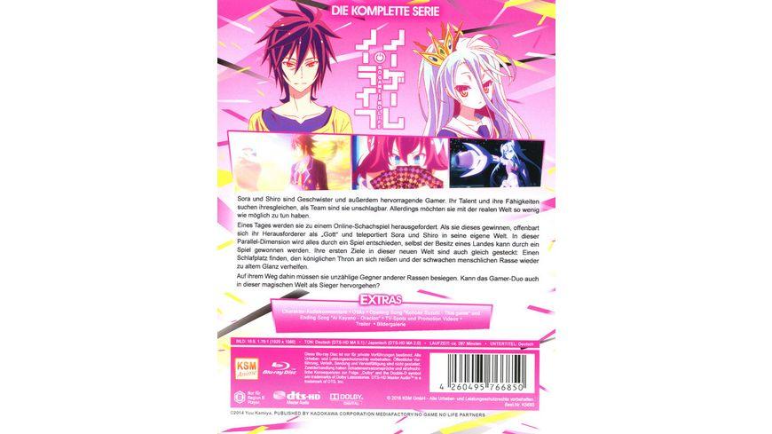 No Game No Life Die komplette Serie in einer Edition Episoden 01 12 3 BRs