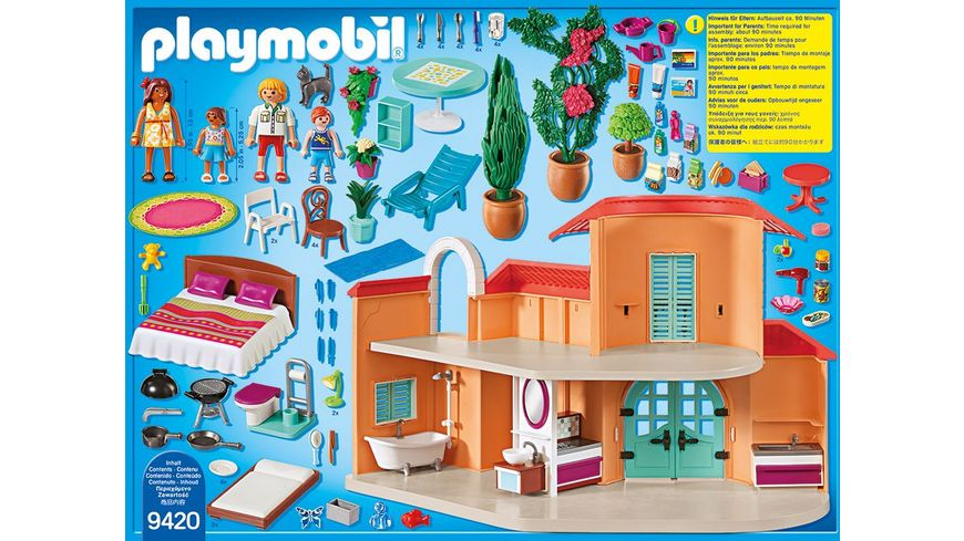 PLAYMOBIL 9420 Family Fun Sonnige Ferienvilla