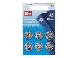 Prym Annaehdruckknoepfe 15 mm silber