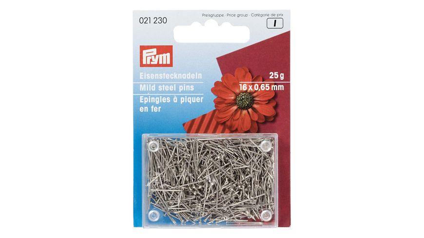 Prym Bastelstecknadeln Eisen 0,65 x 16 mm silberfarbig
