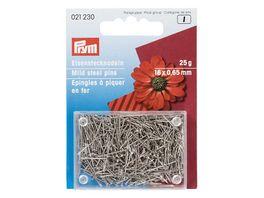 Prym Bastelstecknadeln Eisen 0 65 x 16 mm silberfarbig
