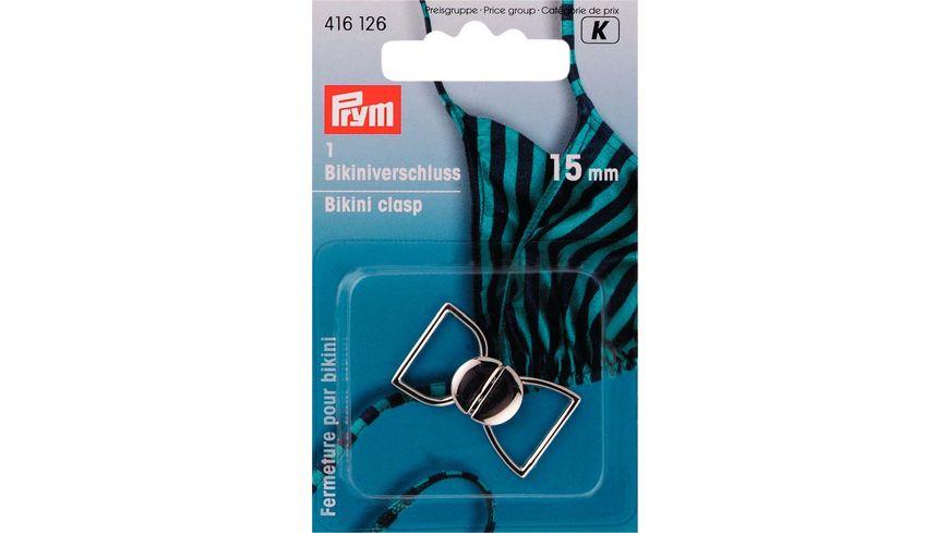 Prym Bikini und Guertelverschluss 15 mm silberfarbig
