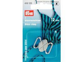 Prym Bikini und Guertelverschluss 12 mm silber matt
