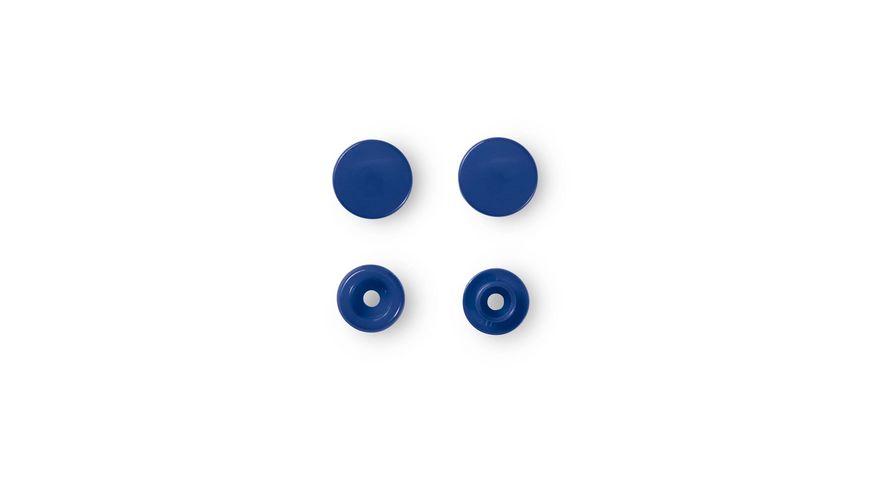 Prym naehfreie Druckknoepfe Color Snaps rund 12 4 mm blau