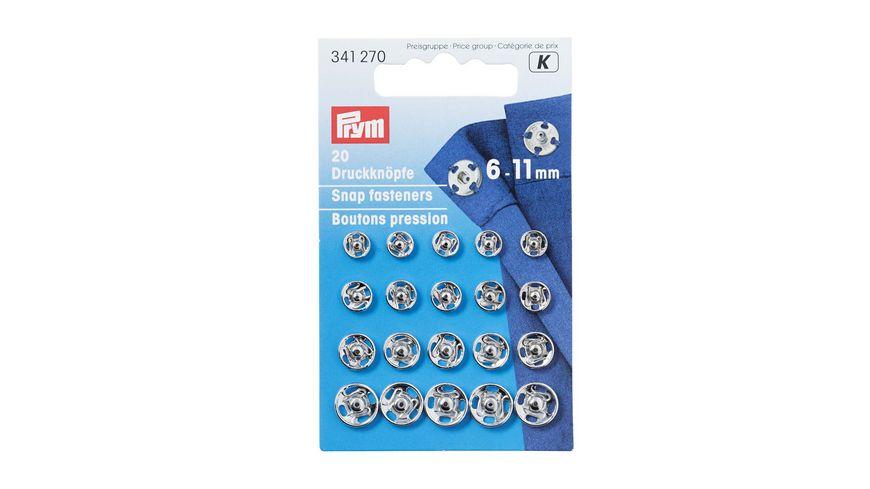 Prym Annaehdruckknoepfe 6 11 mm silber