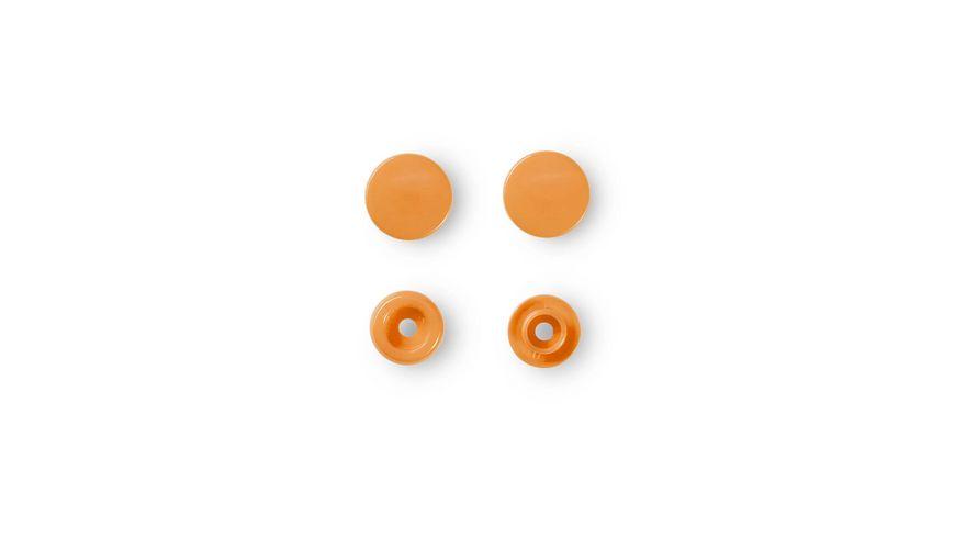 Prym naehfreie Druckknoepfe Color Snaps rund 12 4 mm orange