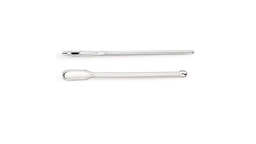 Prym Durchziehnadeln Stahl silberfarbig 2 Stueck