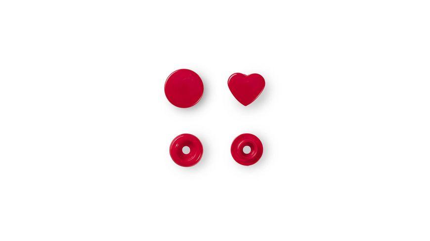 Prym naehfreie Druckknoepfe Color Snaps Herz rot