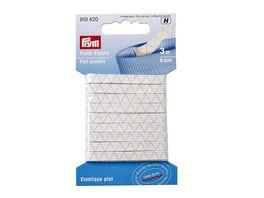 Prym Flach Elastic 6 mm weiss