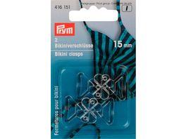 Prym Bikini und Guertelverschluss 15 mm Kleeblatt transparent
