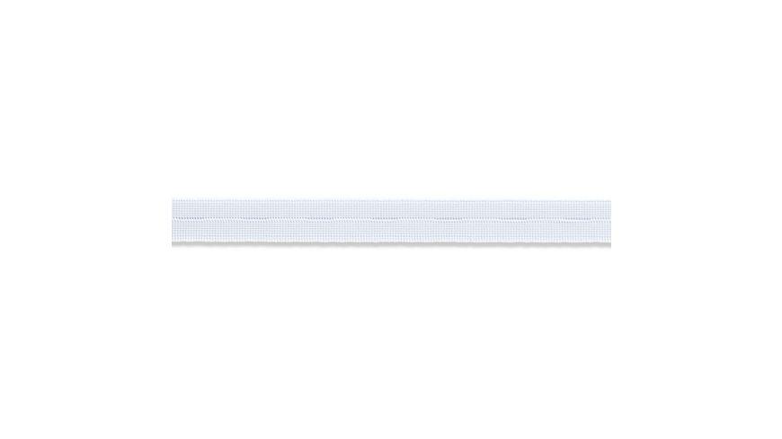 Prym Elastic Knopflochband glatt 18 mm weiss