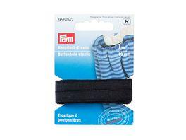 Prym Elastic Knopflochband glatt 18 mm schwarz