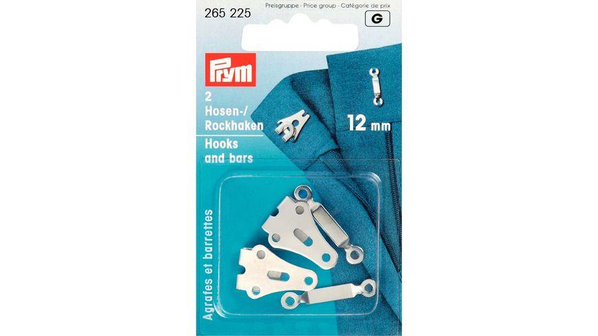 Prym Hosen Rockhaken und Stege ST 12 mm silberfarbig