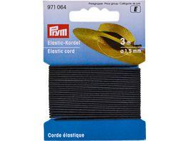 Prym Elastic Kordel 1 5 mm schwarz