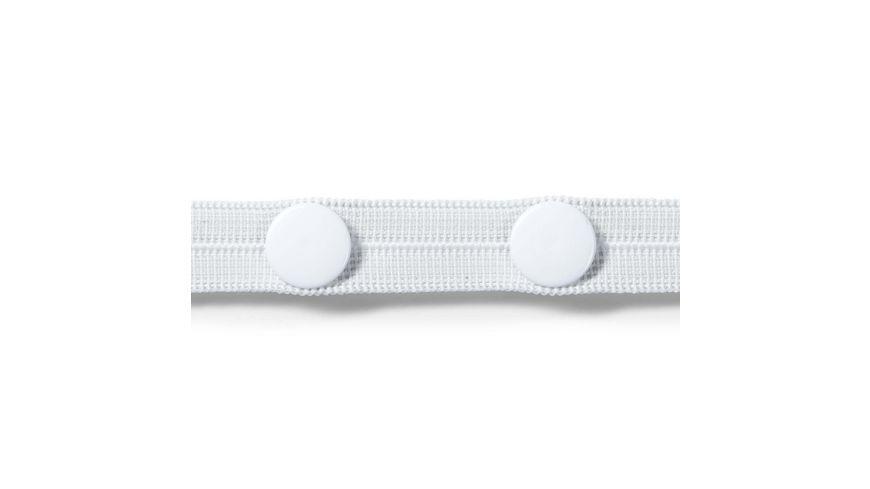 Prym Knopfloch Elastic mit 3 Knoepfen 12 mm weiss