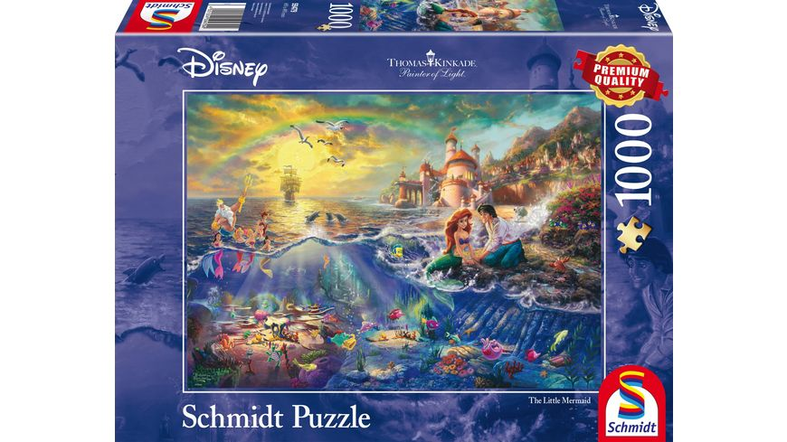 Schmidt Spiele Erwachsenenpuzzle Thomas Kinkade Disney Kleine Meerjungfrau Arielle 1000 Teile