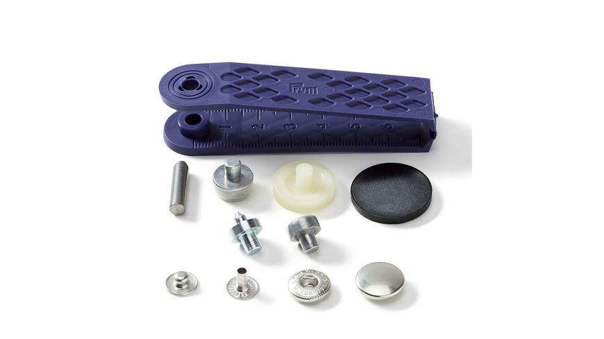 Prym naehfreie Druckknopfe Anorak Messing 15 mm silberfarbig