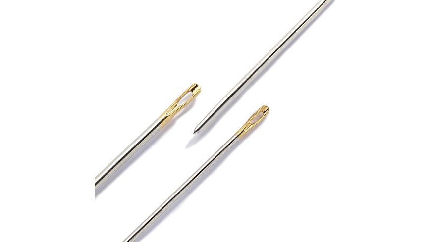 Prym Naehnadeln Jersey Staerke 5 9 silberfarbig goldfarbig