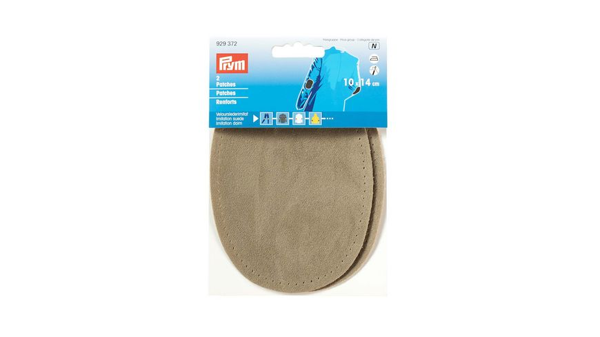 Prym Velourslederimitat Patches 10 x 14 cm stein