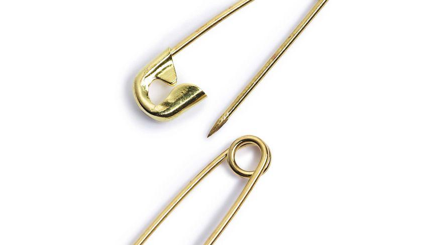 Prym Sicherheitsnadeln Messing 19 23 27 mm goldfarbig
