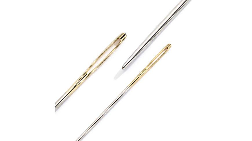 Prym Woll Nadel ohne Spitze ST 1 3 5 silberfarbig goldfarbig